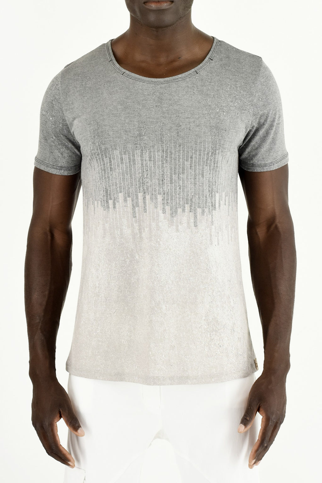 Mens City Print Greys T - Shirt ZG5291