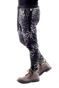 Mens Leopard and Houndstooth pull on pants ZG5327