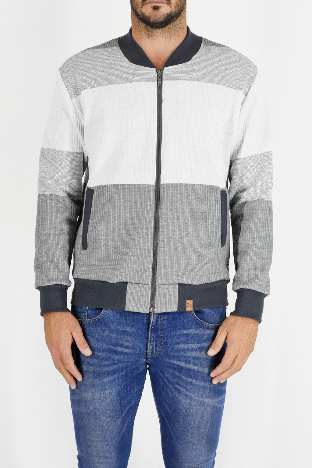 Mens Greys and Milk Bomber Jacket ZG5202