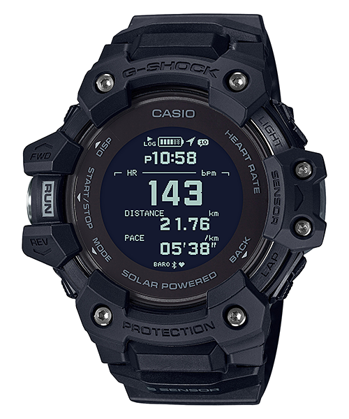 G-Shock Mens 200m G-SQUAD Heart Reate and GPS - GBD-H1000-1DR
