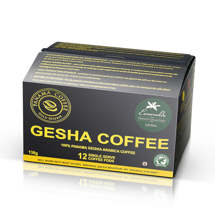 12 K cups of Hacienda Esmeralda Private Geisha Coffee