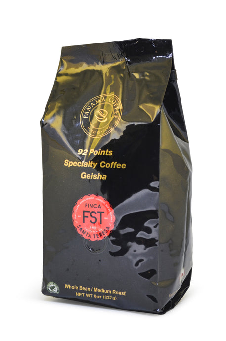 100% Panama Finca Santa Teresa Geisha Natural Whole Bean Coffee 8oz,227g