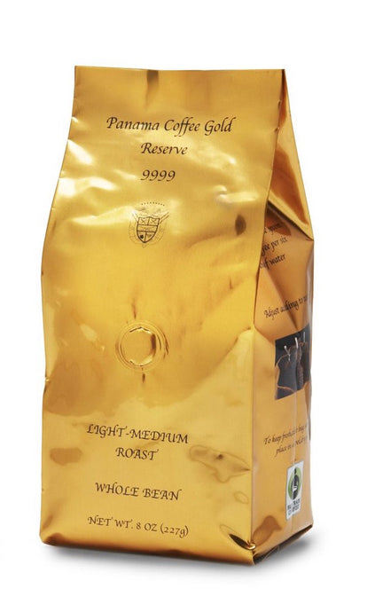 100%  Panama Auromar Ironmen Geisha Whole Bean Natural 8oz,226g