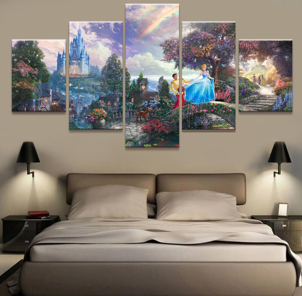Cinderella 5 Pieces Canvas Poster