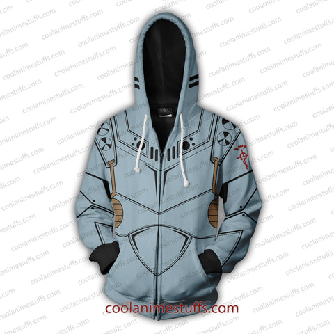 Image of Alphonse Elric Zip Up Hoodie