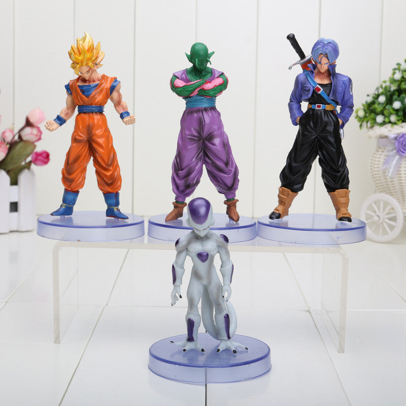 4pcs/set 10-12cm Dragon ball Saiyan Trunks Freeza PVC Figure