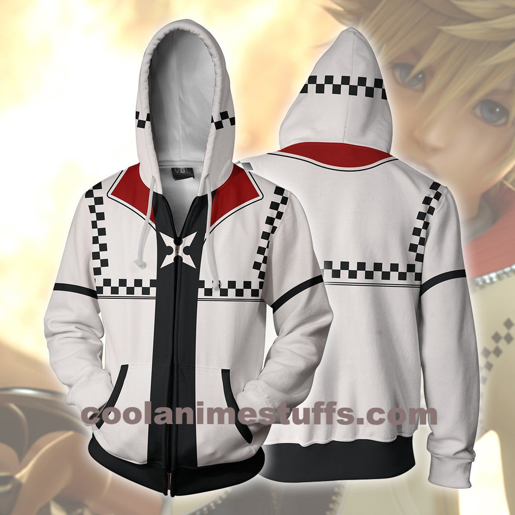 kingdom hearts roxas zip up hoodie coolanimes