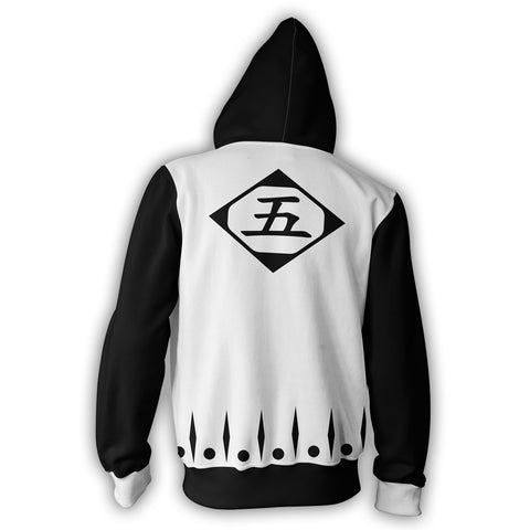 Image of Bleach 5th Division Zip Up Hoodie