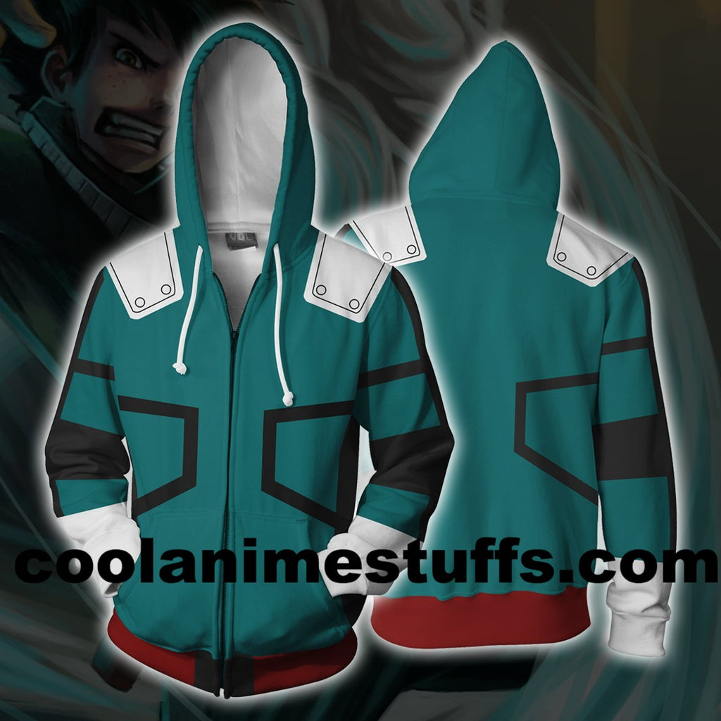 Izuku Midoriya -Boku No Hero Academia Zip Up Hoodie