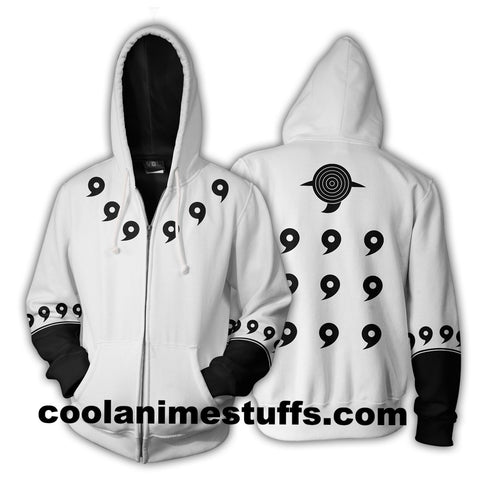 Image of Madara 6 Paths Zip Up Hoodie