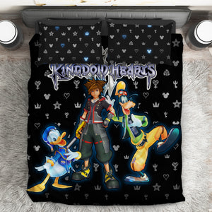 Kingdom Hearts Logo Pattern Bed Set