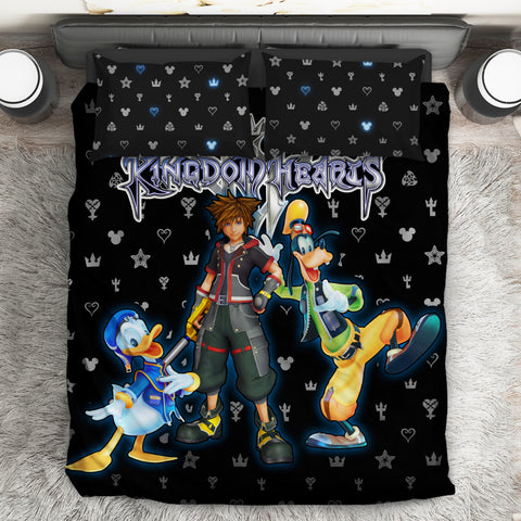 Image of Kingdom Hearts Logo Pattern Bed Set