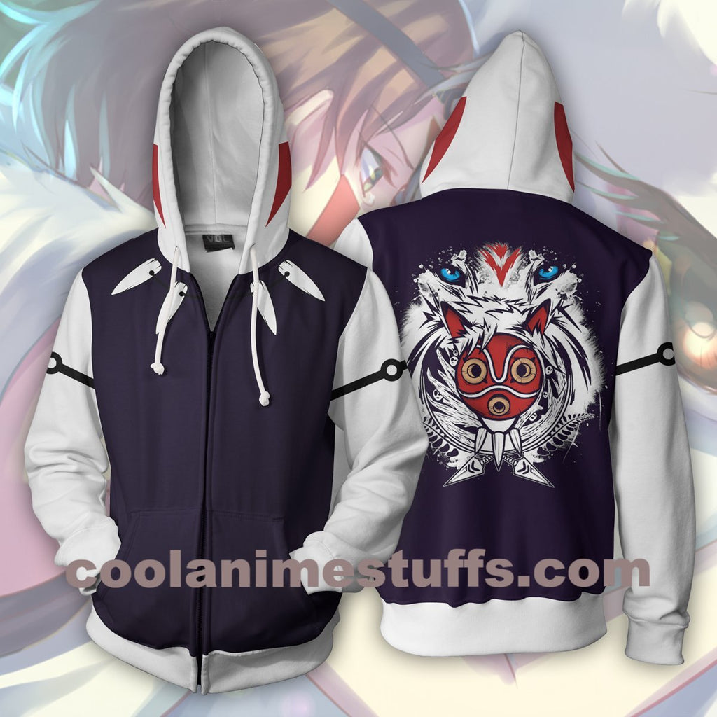 Princess Mononoke Zip Up Hoodie
