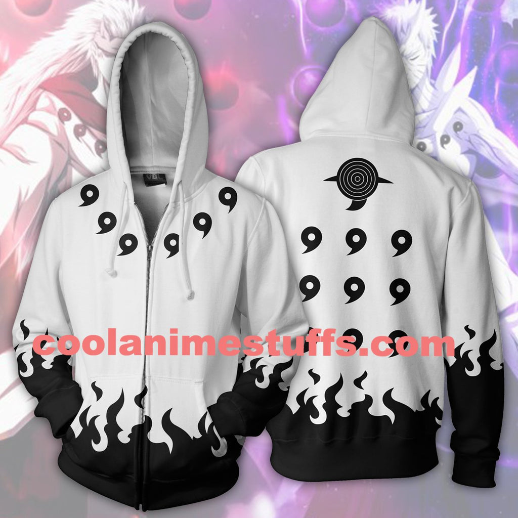 Six Paths White Zip Up Hoodie