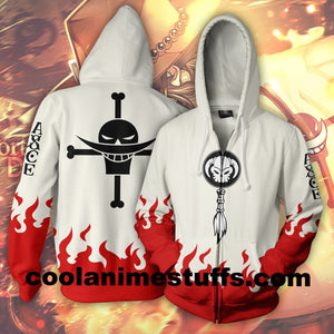 One Piece Ace Zip Up Hoodie