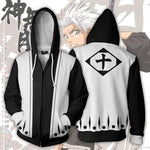 Toshiro Hitsugaya 10th Division Zip Up Hoodie
