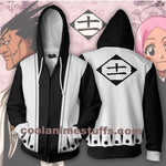 Kenpachi Zaraki 11th Division Zip Up Hoodie