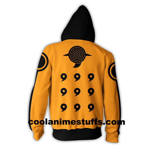 Image of Naruto Uzumaki Zip Up Hoodie