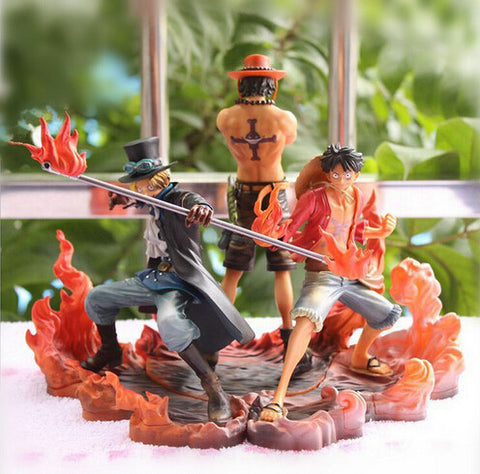 One Piece 3pcs/set 14-17cm Monkey D Luffy Ace Sabo Action Figure