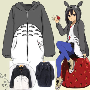 Anime My Neighbor Totoro Hoodie Coat Cosplay Costume Sweatshirts Jacket hoodie