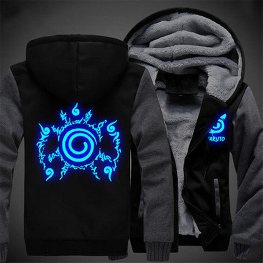 Naruto 10 Styles Luminous Thick Hoodie Coat
