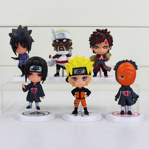 Naruto 12 Styles 6 Pieces/Set New Sasuke Ninja 8cm Action Figure