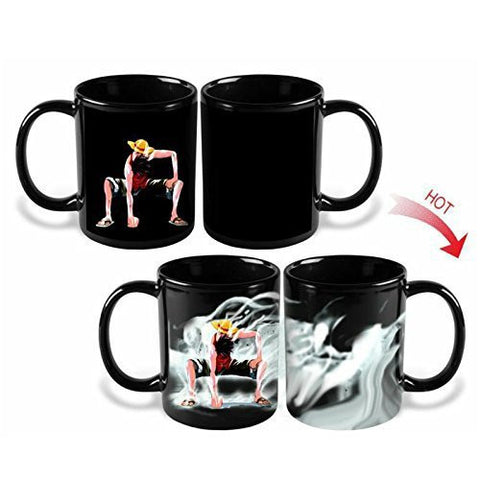 One Piece Luffy Zoro Ace Hot Changing Color Magic Mug