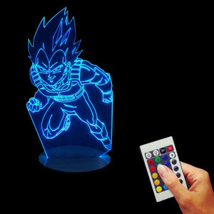 Dragon Ball Z Son Goku 3D Color Changing Night Light Vegeta Super Saiyan LED Lamp