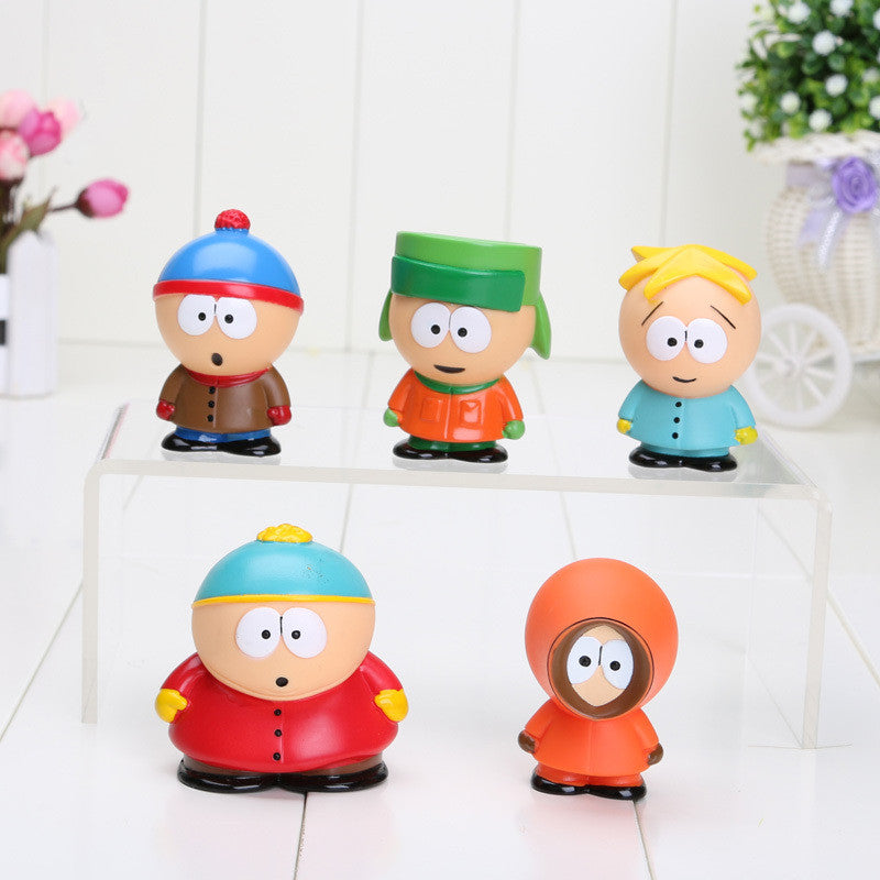 5pcs/set 5cm South Park Mini PVC Action Figure
