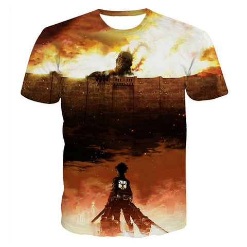 Image of Anime Attack on Titan 3D Printed T-shirt