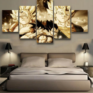 Modern Painting Goku and Vegeta 5 Piece Canvas poster