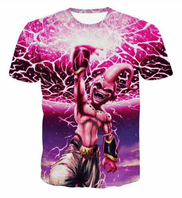 4XL Dragon Ball Men Women Majin Buu T-shirt