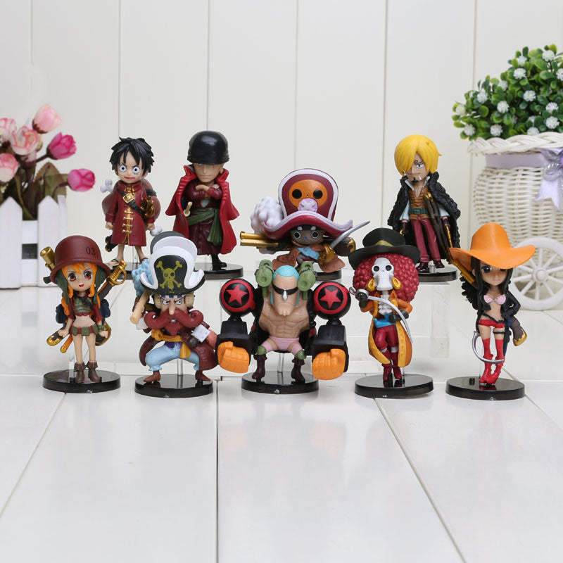 9pcs/set 3.5-7cm Anime One Piece Action Figures Cute One Piece Film Z Figure Toys Dolls