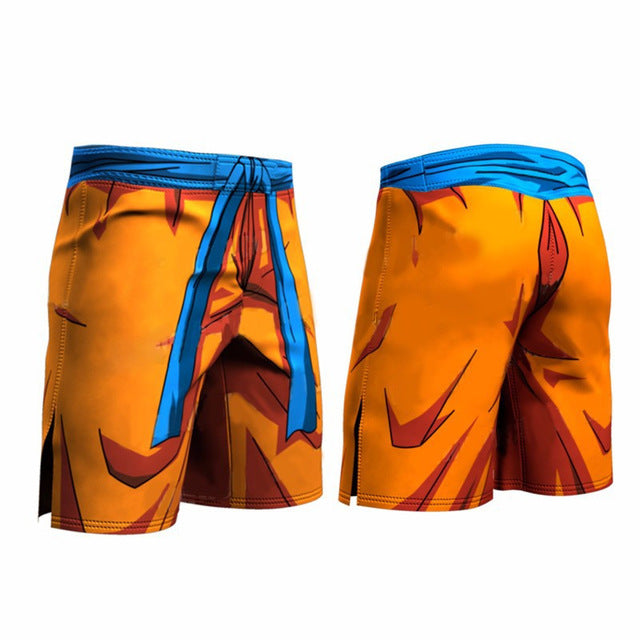 Anime Dragon Ball Z Vegeta Goku 3D Compression Leggings