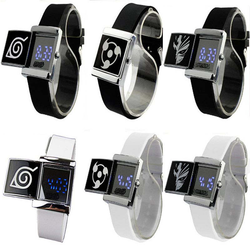 3*3cm LED anim Attack Titan  Naruto  Lighted Electronic Watch