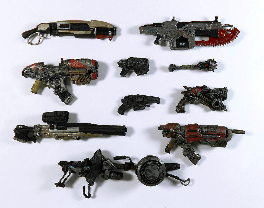 "6pcs lots Random Gears of War Weapon Gun for 7"" Neca SOLDIER Action Figure SGUN"