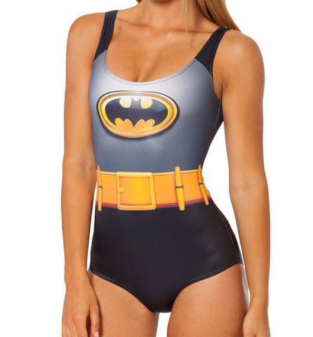 Image of Batman Sexy Girl 3D Print Swimsuit