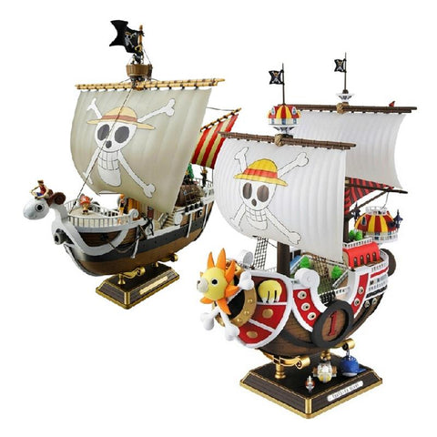 Image of 35cm Anime One Piece Thousand Sunny & Meryl Boat Pirate Ship Figure PVC Action Figure Toys