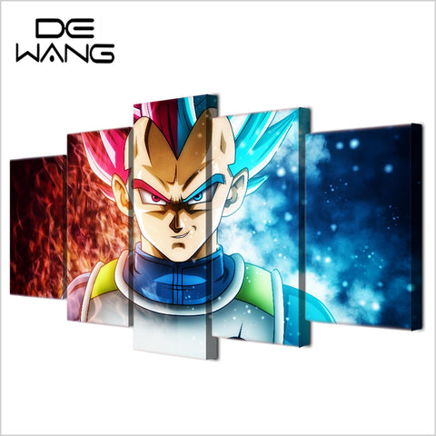 Image of Dragon Ball Z 5 Pieces/se Canvas Poster