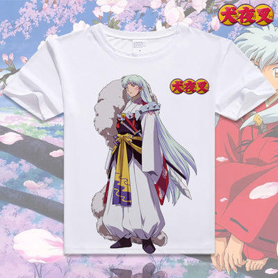 Image of Anime Inuyasha Cotton T-shirt