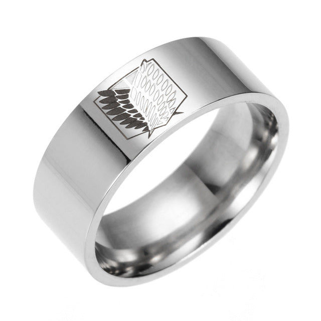 Anime Attack On Titan Silver Ring