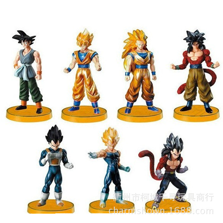 7pcs/set Super Saiyan Dragon Ball Z Goku Vegeta Action Figure PVC Collection figures toys