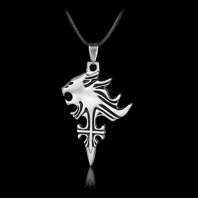 Anime Game Final Fantasy VIII 8 Griever Squall Leonhart Lion Head Necklace