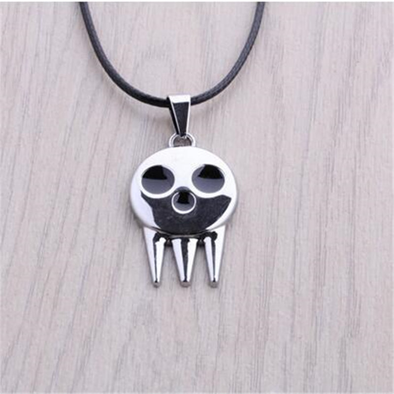 Anime Soul Eater Death The Kid Skull Logo Necklace