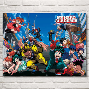 Boku no Hero Academia Japanese Anime Art Silk Fabric Poster