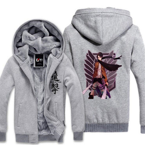 Image of Anime Attack on Titan Print Cosplay Hoodie