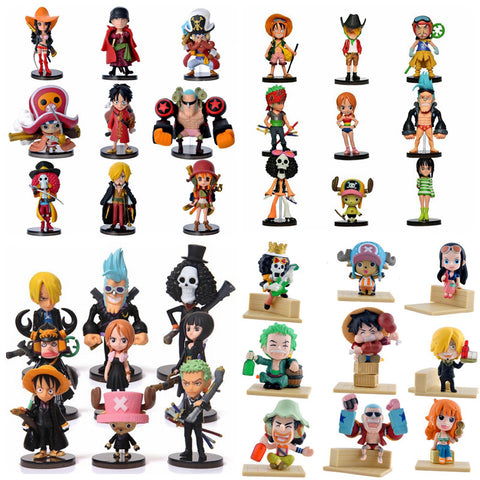 Image of Anime One 9 Piece PVC Action Figures Cute Mini Figure Toys