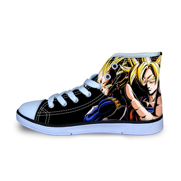 Anime Dragon Balln Z Super Saiyan Son Goku  Print Canvas Shoes