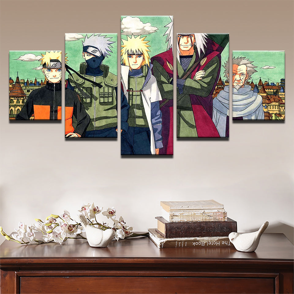 Anime Naruto Canvas 5 Pieces Posters