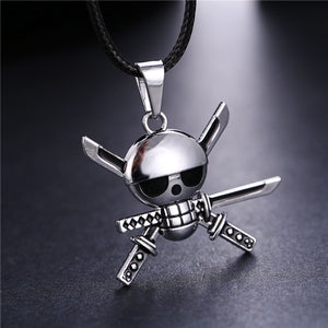 Anime One Piece Zoro Skeleton Necklace